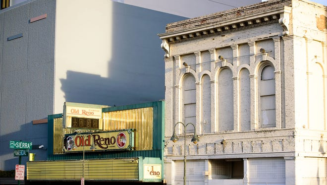 The Old Reno Casino and Masonic Building on Commercial Row and Sierra Street are both vacant in downtown Reno.