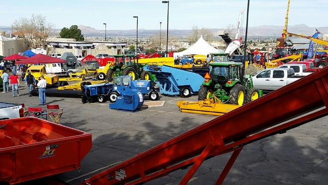 Pecan and farm equipment is on display Monday during the 50th annual Western Pecan Growers Association conference, held at Hotel Encanto.