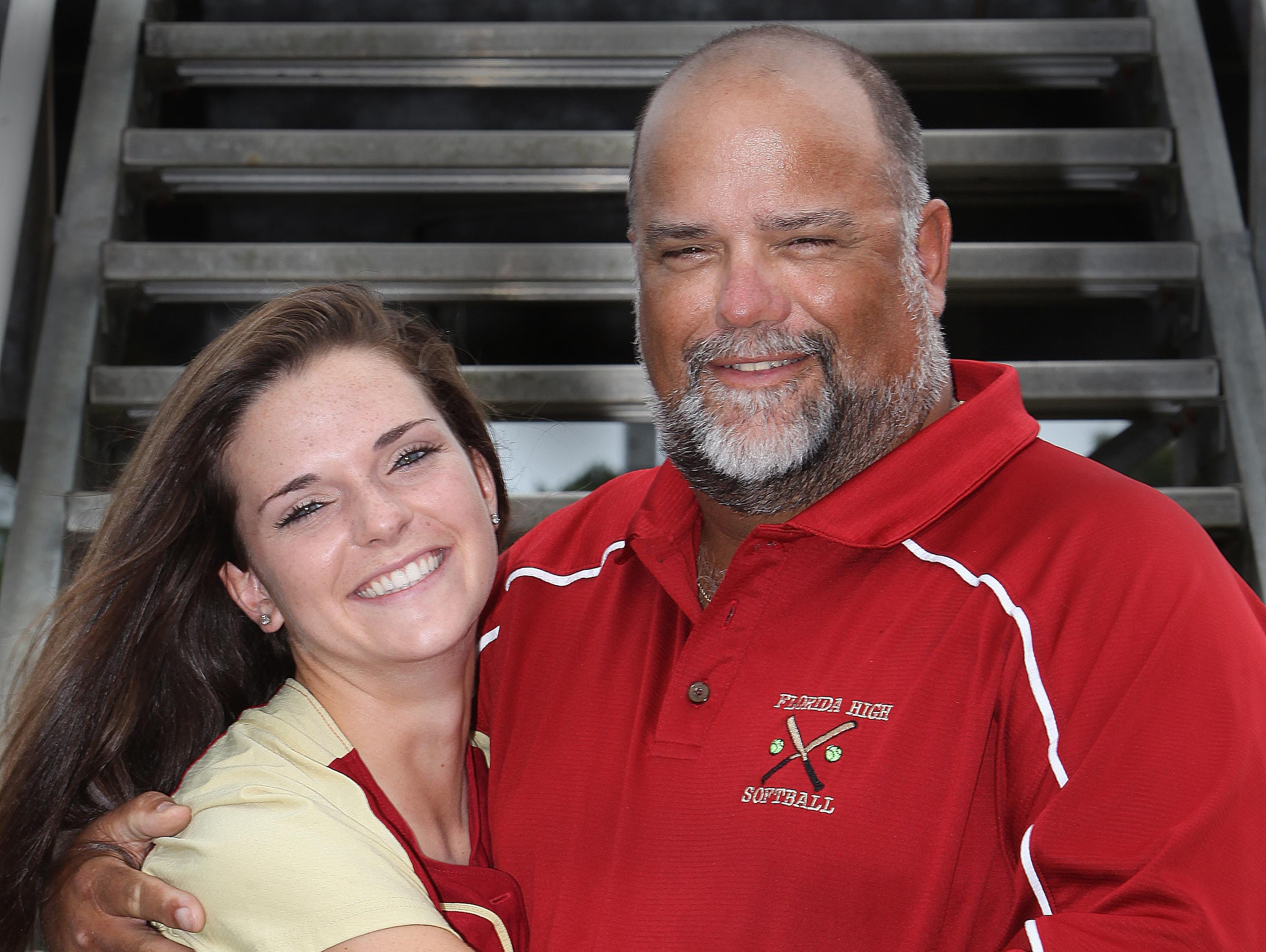 Florida High's Taylor Rossman and her father, Rick Rossman, were the 2011 All-Big Bend Player of the Year and Coach of the Year, respectively.