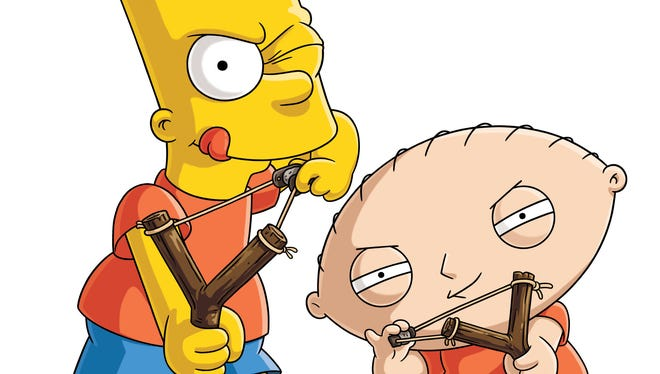 "Bart from ""The Simpsons"" and Stewie from ""Family Guy."""