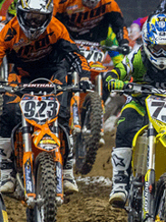 Arenacross is an indoor version of motocross.
