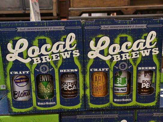 Local beers at Shreveport's World Market.