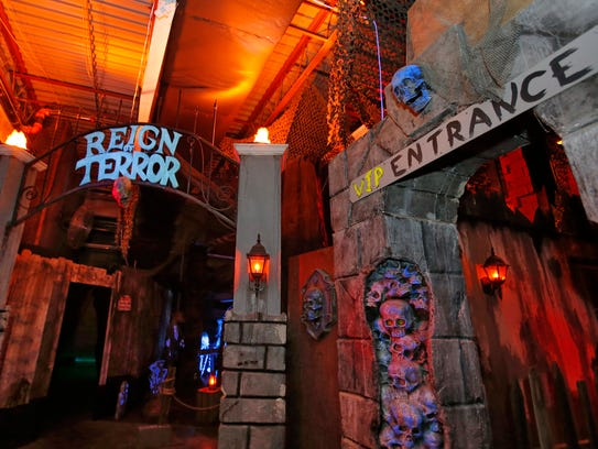 The Reign of Terror at the Janss Marketplace in Thousand Oaks runs through Oct. 31 and includes 100 rooms decorated in eight different themes, from a haunted mine to a lab where experiments have gone very, very wrong.