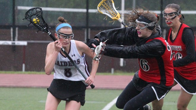 Rye lacrosse won10-9 at Scarsdale May 13, 2016.