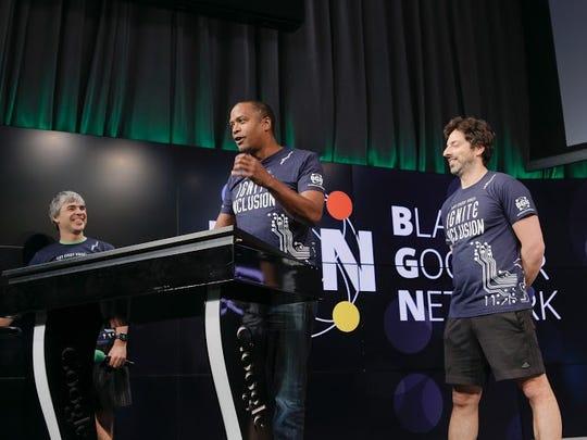 Alphabet executive David Drummond with Google founders