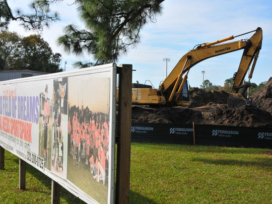 Work is underway on the Field of Dreams sports park for those with special needs as part of the West Melbourne Community Park complex. The city is seeking $1.05 million in state money for the second phase of the project.