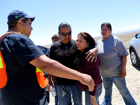 Family and friends gathered Tuesday along Navajo Route