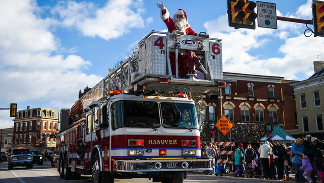 Register by Nov. 23 to join Santa in Hanover's Annual Holiday Parade, set for Nov. 27.