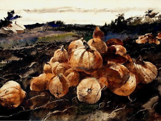 """Andrew Wyeth's """"Albert Orff's Squash Patch"""" was once"""