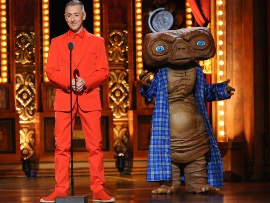 Alan Cumming, left, and Kristin Chenoweth spoof 'E.T.'