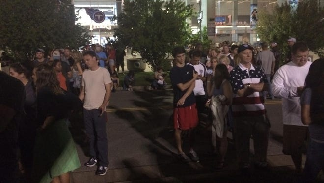 Soccer fans were upset about long lines at Nissan Stadium for a game in early July.