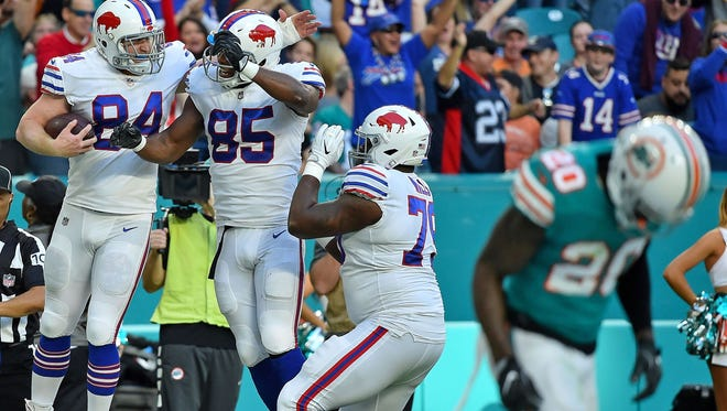 The Buffalo Bills beat the Miami Dolphins on Dec. 31, 2017, to earn an AFC wild card spot.