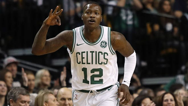 Former University of Louisville guard Terry Rozier has been lighting up former Kentucky guard Eric Bledsoe in the NBA playoffs.