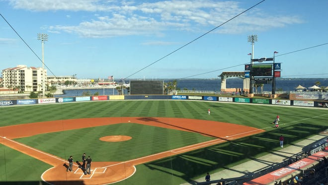 Blue Wahoos Stadium in downtown Pensacola has been named one of the Top 10 minor league ballparks by Baseball America.