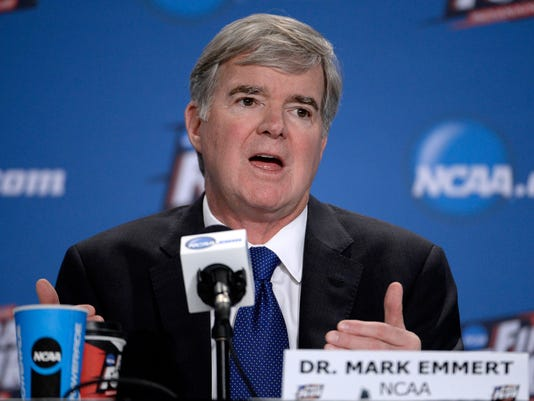 USP NCAA BASKETBALL: NCAA PRESIDENT MARK EMMERT-PR S BKC USA IN