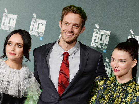 """Director Cory Finley is flanked by """"Thoroughbreds"""""""