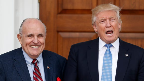 Rudy Giuliani and Donald Trump.