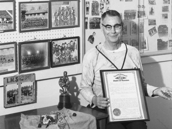 Amos P. Godby retired in 1965 following an illustrious career as a head coach at Carrabelle and Leon Highs, as well as shouldering the role of superintendent for Leon County Schools.