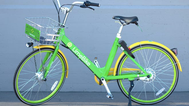 LimeBike is a dockless bike share system that allows users to ride anywhere in a city for a small fee using their smartphone.