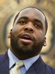 Former Detroit Mayor Kwame Kilpatrick in 2004