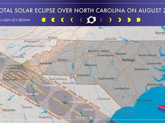 The Total Solar Eclipse will sweep across Western North Carolina Aug. 21. This is the first time since 1776 a total solar eclipse has been exclusive to the United States.