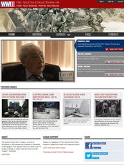 This screenshot provided by the National World War II Museum shows the home page of the National World War II Museum's new online archive project, in New Orleans, Friday, Dec. 16, 2016. Executives at the museum say creating a vast online collection of 9,000 existing oral and written histories will take longer than the war was fought: 10 years and $11 million dollars. The task is enormous: thousands of hours of audio and video must be handled and millions of words transcribed.