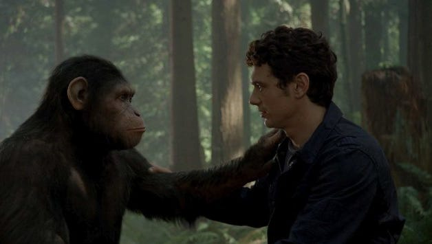 """James Franco in """"Rise of the Planet of the Apes"""" (2011)."""