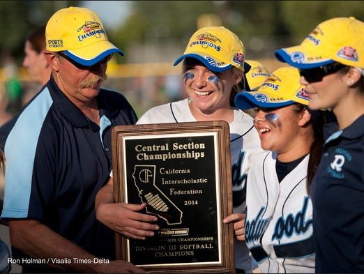 Redwood hosts Kingsburg in a rematch for the Central Section Division III championship on Friday, May 23, 2014.
