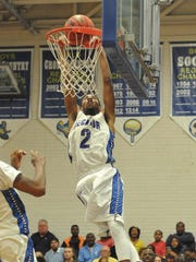 Stephen Decatur's Keyon Eley with the dunk against