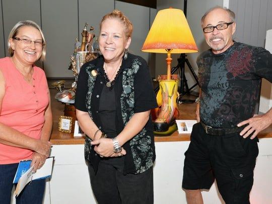 Catherine Chaney, Board Member; Janet Bird Fuller, Artist; and Charles Blake, Artist