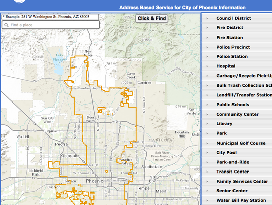 phoenix website shows city owned properties