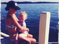 Minnie Driver spent a day out on the lake with her child and shared the moment with her Instagram followers.
