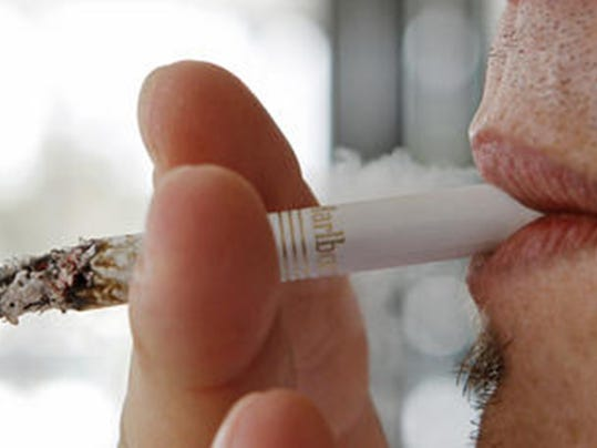 SMOKING A MARLBORO