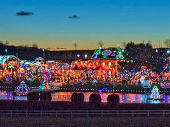It takes more than a million lights to illuminate Koziar's Christmas Village.