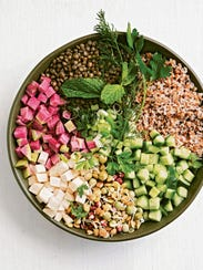 This colorful salad by Ilene Rosen has a base of lentils
