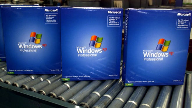 Microsoft's new operating system, Windows XP Pro.