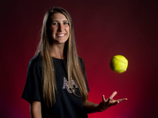 Montgomery Advertiser All-Metro 1A-4A Softball Player of the Year Haley Pittman, of Alabama Christian, in Montgomery, Ala. on Wednesday June 14, 2017.