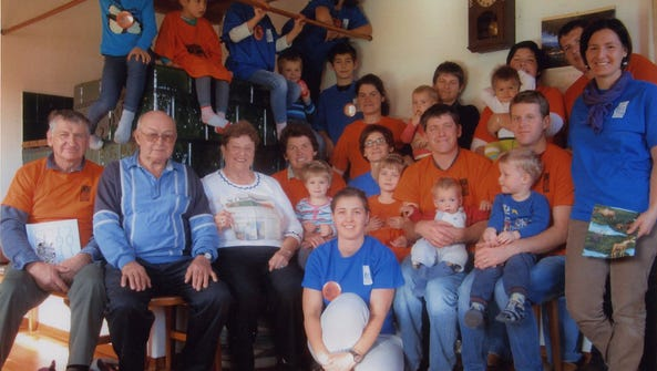 Jerome and Dolores Supan with Slovenian relatives.