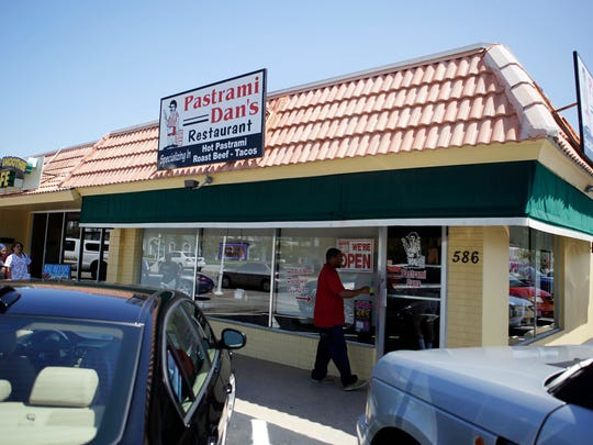 Customers pack Pastrami Dan's Restaurant during the lunch hour on March 23, 2011.