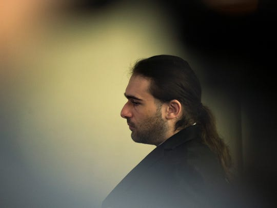 """David """"DJ"""" Creato appears in court Thursday during his trial in connection with the death of his 3-year-old son Brendan."""