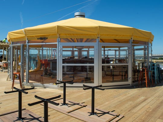 A view of the canopy at the Big Chill Beach Club in