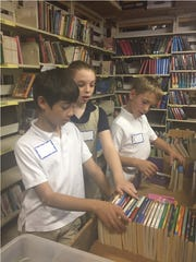 Students from Mendham Country Day School in Basking Ridge learned about volunteering and the value of community service while sorting and organizing donated merchandise for the VNA of Somerset Hills Rummage Sale.