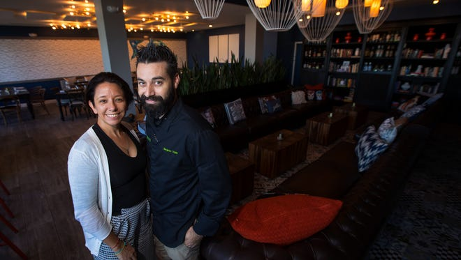 """Valeria Zanella Voisin and Benjamin Voisin are owners of """"Gather"""" at Tarpon Point in Cape Coral."""