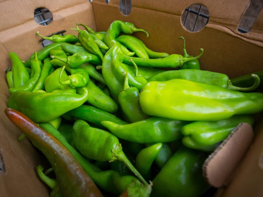 A box of chiles for sale at Albertson's, Wednesday,
