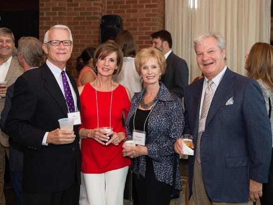 From left, Alan and Cissy Worrell, and Margaret and Jimmy Lowder at the Donors Appreciation Reception hosted at the Alabama Shakespeare Festival (Photography by Libby Weatherly)