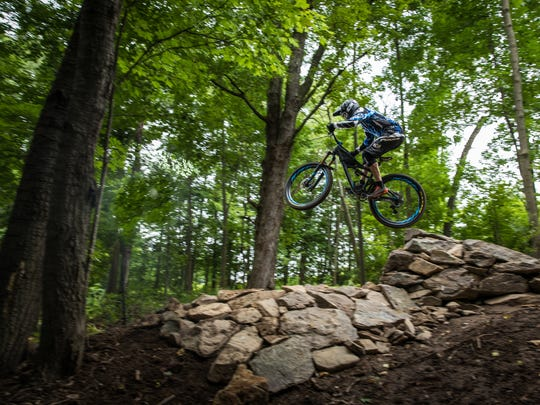 Riders will need to have high mountain biking skills to ride on the advanced trails at Sylvan. The easier trails will be more accessible to beginning riders.