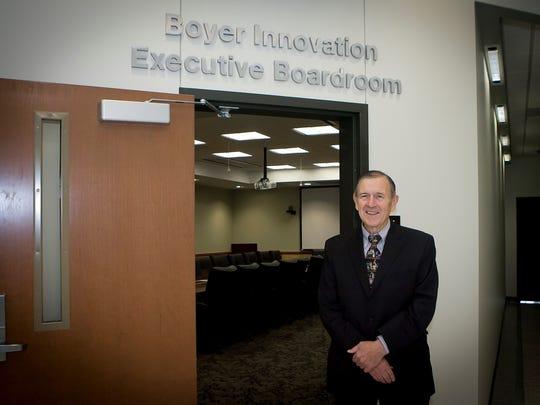 Joseph 'Harry' Boyer, poses outside the Boyer Innovation