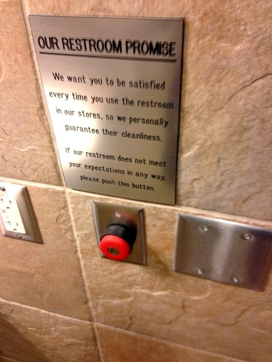 Rutter's has this red button in its bathrooms.