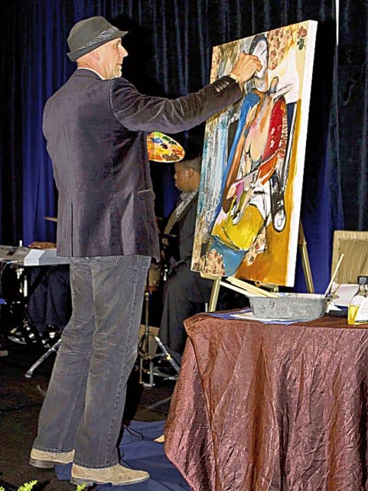 Rolando Diaz painting.