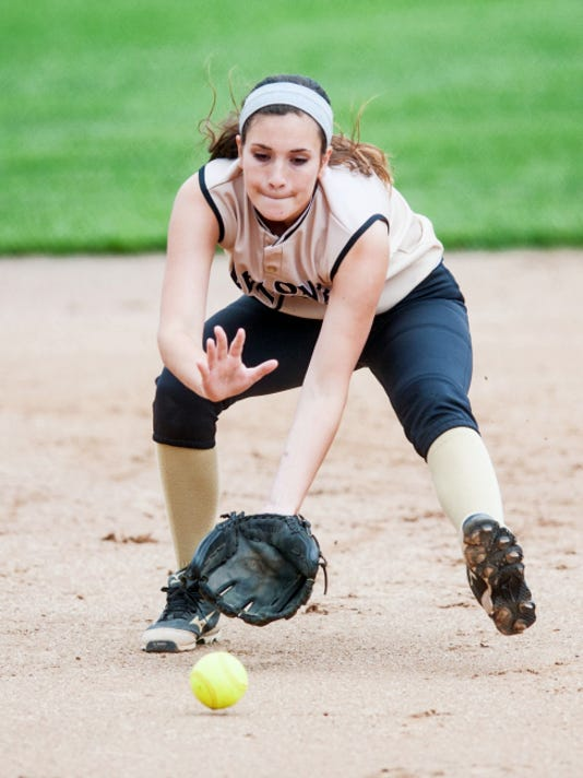 Delone Catholic shortstop Shelbee Holcomb was named the state Class AA Player of the Year by the Pennsylvania High School Coaches Softball Association on Friday.